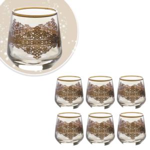 Çınar Kristal 6 Adet Ottoman Amber Fıçı Kahve Yani Bardak