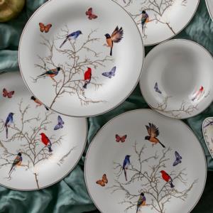 Karaca Fine Pearl Grace Black Mint 14 Parça 6 Kişilik İnci Kahvaltı Takımı