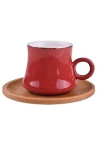 Bambum Harem 6 Kişilik Kahve Fincan Takımı Saray Kırmızı B0926