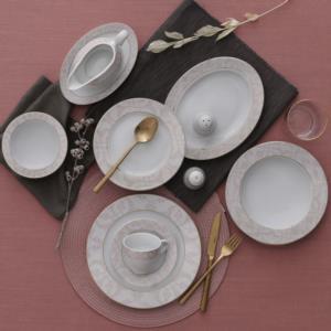 Güral Porselen 84 Parça Yuvarlak Tolstoy Yemek Takımı Bantlı 5719 AU