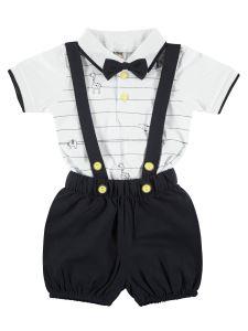 Civil Baby Erkek Bebek Papyonlu Takım 3-12 Ay Beyaz