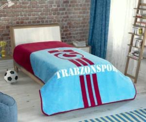 Taç Kristal Tek Kişilik Lisanslı Trabzonspor Striped Battaniye