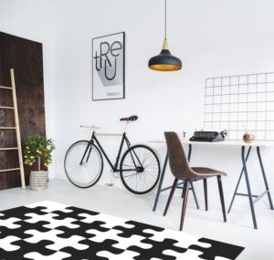 Gosse Saçaksız Çocuk Halısı Puzzle Black & White 120X180cm