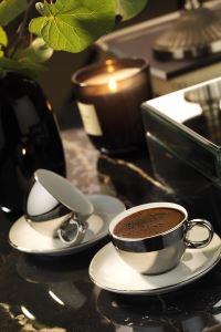 Kütahya Porselen Zeugma Kahve Takımı Platin Kaplama