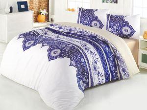Ezolin Çift Kişilik Uyku Seti Beyaz Mavi