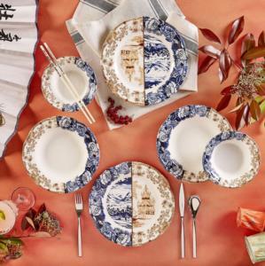 Karaca Blue Caffe 12 Parça 4 Kişilik Yemek Takımı