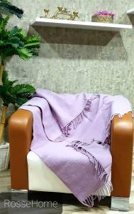 The Fabric %100 Yün TV Battaniyesi-Dizlik Lila