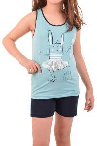 Nicoletta Kız Çocuk Şortlu Pijama Takımı Geniş Askılı Pamuk