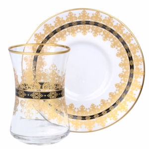 Royal Kristal 12 Parça Benito Çay Bardak Seti