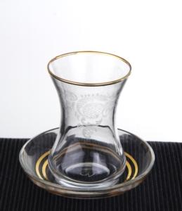 Royal Kristal 31 Parça Nakış Gold Cam Set EKSİK ÜRÜN 413
