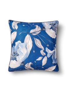 Flower Yastık - Koyu Mavi 50 x 50cm
