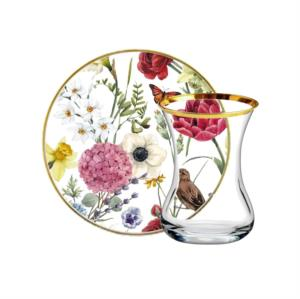 Vivas 12 Parça Bloom and Bird Çay Seti CS164