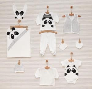 Bebbek Panda 10  Parça Hastane Çıkış Seti