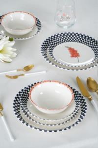 Acar Akasya 24 Parça Porselen Yemek Takımı