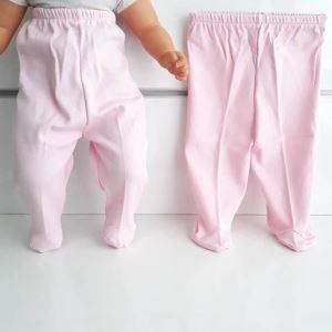 Patikli Pembe Tek Alt Bebek Penye Pantolon
