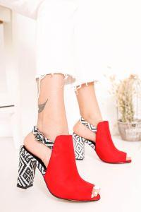 Moda Eleysa Chloe Topuklu Kilim Detaylı Ayakkabı MODAELYSSA2069