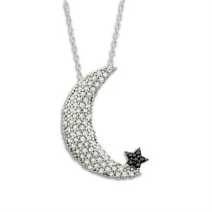 Ay Yıldız Gümüş Hayalet Kolye KL420