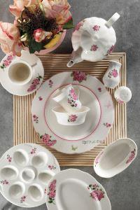 Kütahya Porselen Bone Olympos 36 Parça 9829 Desen Kahvaltı Takımı