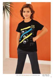 Güryıldız 6763 Kısa Kollu Erkek Çocuk Pijama Takımı