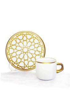 Asena Türk Kahve Seti 6 lı Yıldız Altın