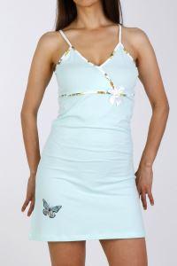 Nicoletta Ekru Kadın Tunik Gecelik Sabahlık İp Askılı Pamuk