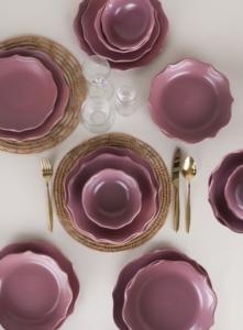 Keramika Romeo Mat Violet Yemek Takımı 24 Parça 6 Kişilik