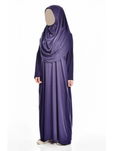 Ayfa Tek Parça Lacivert Namaz Elbisesi Beden 1 AYFA900