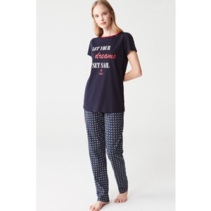 Mod Collection 3275 Bayan Pijama Takımı Lacivert