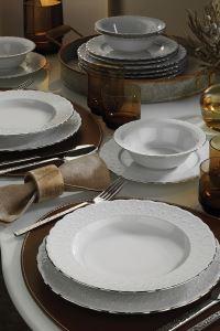 Kütahya Porselen Aris 24 Parça Yemek Seti
