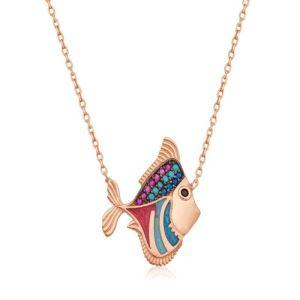 Gümüş Balık Bayan Kolye