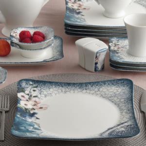 Güral Porselen 36 Parça Spinoza Bone Kahvaltı Takımı Reaktif 1011513